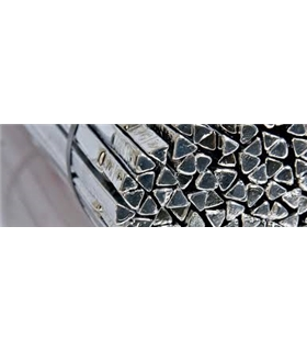 Solda em Barra Triangular Sn99.8Cu0.2 8/100 400mm 50KG - STALOT0032