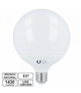 Lampada LED E27 230V 15W 4500k 1430lm Globo - LLE27G15NW