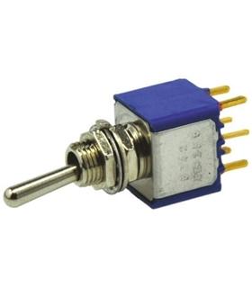 5248CDB - Interruptor Alavanca, 3 Posições, 1 Teimoso, DPST - MX5248CDB