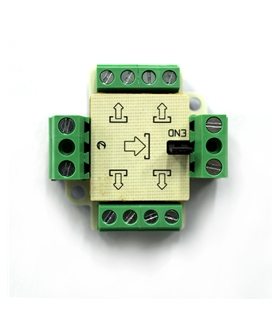 Derivador compacto 4 Saidas para Sistema de 2 Fios - DIV-464