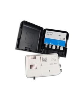 kit amplificador AM-195 + alimentador, rejeição LTE 700 - BO-195