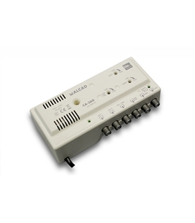 Amp. de cabeceira 3 ent, 2 sal, UHF-UHF-VHF/FM,rej. LTE 700 - CA-360