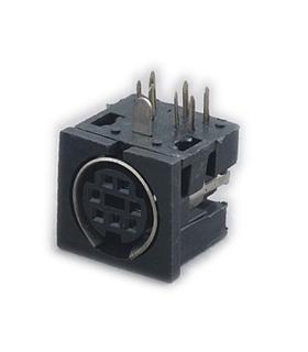 Ficha Mini Din 7P Femea Para Circuito Impresso - 69MD7PFCI
