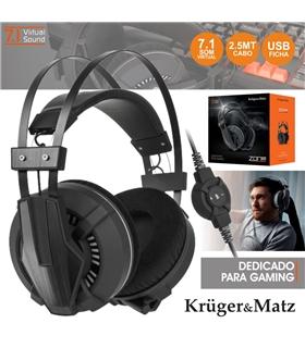 Auscultadores Gaming 7.1 Zone Pro Kruger Matz - KM0627