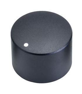 Botão Potênciometro Rotativo Aluminio 6mm, Ø25x18mm - FC7232