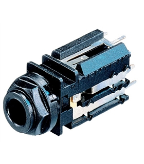 NJ2FD-V - Ficha Jack 6.35mm Fêmea Mono Painel Neutrik - NJ2FD-V