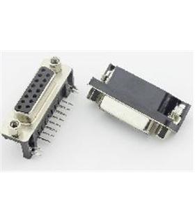 Conector Sub-D, Femea, 15 Pinos, PCB 90º - 69D15PFAR