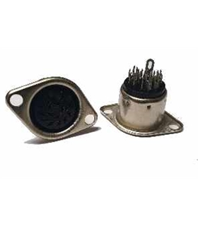 Conector DIN, Femea, 14 Pinos, Painel - 69DIN14PFP