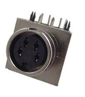 Conector DIN, Femea, 4 Pinos, PCB, Zincado - 69DIN4PFCIZ
