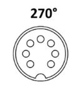 Conector DIN, Femea, 7 Pinos 270°, Cabo - 69DIN7PF