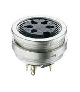 Conector DIN, Femea, 7 Pinos, Painel com Rosca - 69DIN7PFPR