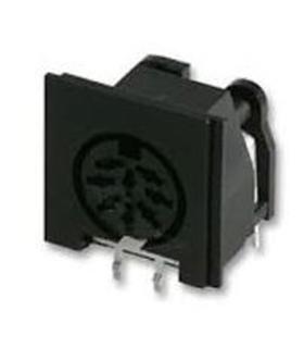 Conector DIN, Femea, 8 Pinos, PCB - 69DIN8PFCI