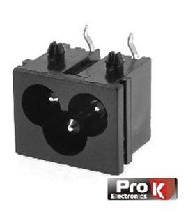 Conector IEC60320 C6, Macho, PCB - 69FA3PT