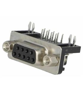 Conector Sub-D, Femea, 9 Pinos, PCB 90º - 69D9PFAR