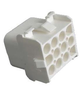 1-480709-0 - Conector Raster, Femea,  12 pinos, 6.35mm - 1-480709-0