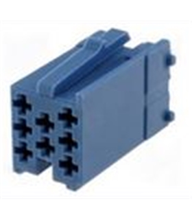 Conector mini-ISO, Azul, 8 pinos - 69FMISO8