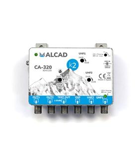 Amplificador de cabeceira 3 ent, 2 sal, UHF-UHF-VHF/FM - CA-320