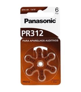 PR41/PR312 - Pilha Aparelho Auditivo Zinc Air Panasonic - 169PR41P