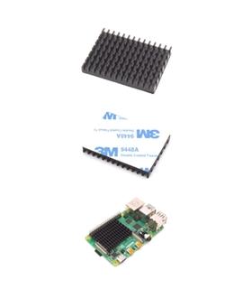 Dissipador Aluminio Para Raspberry4 40x30x5mm - RASP4COOLKIT