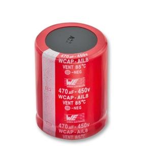 Condensador Electrolitico 330uF 450V Snap In - 861101484016