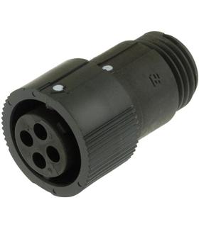 183040-1 - Conector Femea, 4Pinos, Mini CPC Series - 14453901