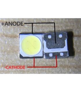 Led SMD 3535 para fitas TV LG 1W 3V - 124LG35353V