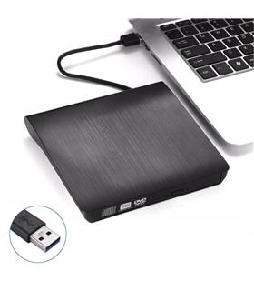 Leitor CD/ CD-RW/ DVD Externo Slim USB 3.0 Preto - CB31005