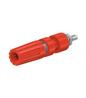 23.0330-22 Alveolo 4mm Vermelho Painel, 35A 30VAC - 23033022