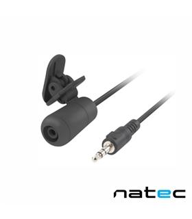Microfone Lapela Preto NATEC - NMI1351