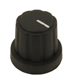 MP3450 - Botao Potenciometro, Veio D, 19.3mm, Preto - MP3450