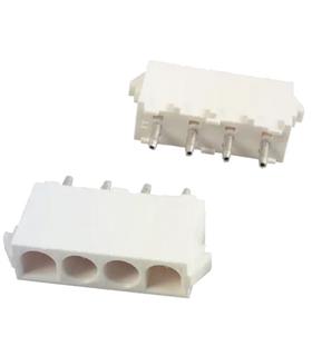 350792-1 - Conector Raster, Femea,  4 pinos, 6.35mm, PCB - 69FM4CI