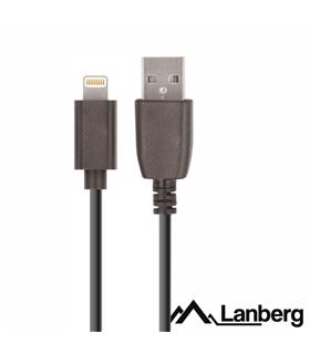Cabo USB-A 2.0 Macho - Lightning 8P Macho 1.8m Preto - CAUSLM10CU18BK