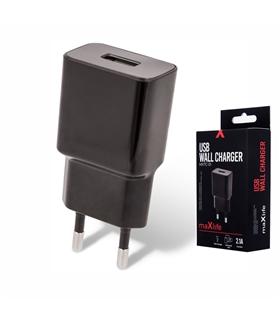 Alimentador Compacto 1 USB 5V 2.1A Preto - MXTC01