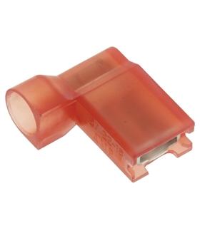 Terminais Faston Fêmea Isolado 4.8mm Vermelho - 2-520335-2