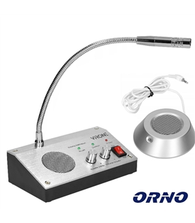 IC-1 - Microfone Com Intercomunicador Bi-Direcional p Vidro - IC-1