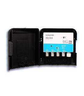 Amplificador 2 entrada, UHF G=40 dB+DAB, rejeição LTE 700 - AM-915