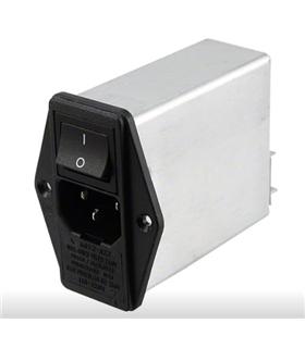 10EK3M - Filtro de Rede IEC C14 10A 250V - 10EK3M