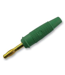 972518704  - Banana 4mm 32 A, 60 V Verde Pack 5 - 972518704