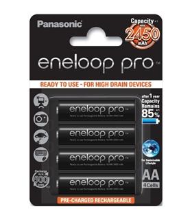 Pack 4 Pilhas Panasonic Eneloop PRO LR6 AA 2500mAh - BK-3HCDE/4BE