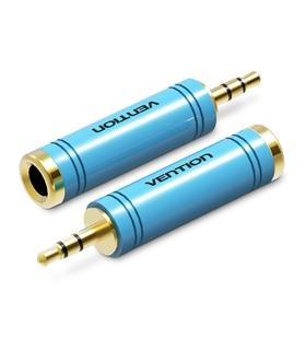VAB-S04-L - Adaptador Jack 3.5mm Stereo Macho / 6.5mm Femea - VAB-S04-L