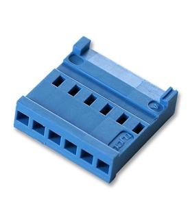 281836-6 - Conector Fio/Placa ,Femea,  6 pinos 2.54mm, AMPMO - 281838-6