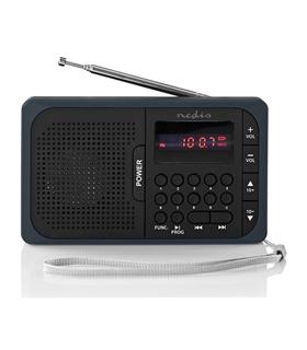 RDFM2100GY - Radio Portatil FM C/ USB/MICRO SD - RDFM2100GY