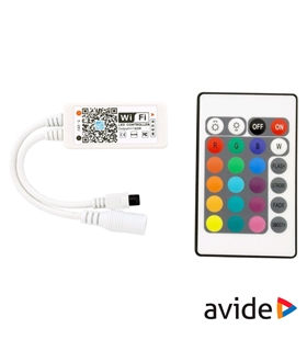 Controlador RGB 100W WIFI + Comando - ABLS12VRGBW100