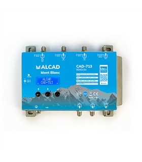 Central programável c/ filtros p/ 32 canais DVB-T2 e SAT - CAD-713