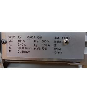 GNE71/2/K - Motor DC 0,280kW 200V/180V #1 - GNE71/2/K