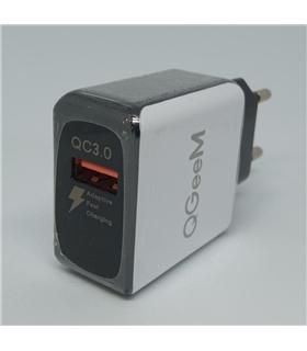 QG-CH02 - Carregador Quick Charge 3.0 USB 3A - QG-CH02