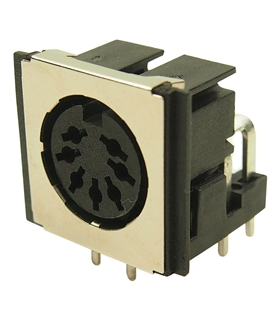 Conector DIN, Femea, 7 Pinos 270°, CI - 69DIN7PFCI