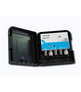 Amplificador 1 ou 2 entrada, UHF G=32 dB, rejeição LTE 700 - AM-187