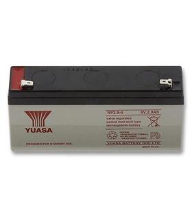Bateria Gel 6V 2.8A YUASA - NP2.8-6S
