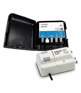 Kit 3 entradas, SAT, DAB/FM, UHF G=32 dB, LTE 700 - BO-696